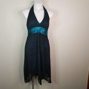 EUC teal w/ black overlay size M